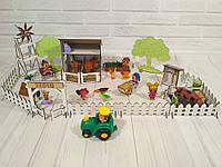 Набор мебели для кукольных домиков Веселое Ранчо из 23 предметов Изготовлен из натуральных материалов