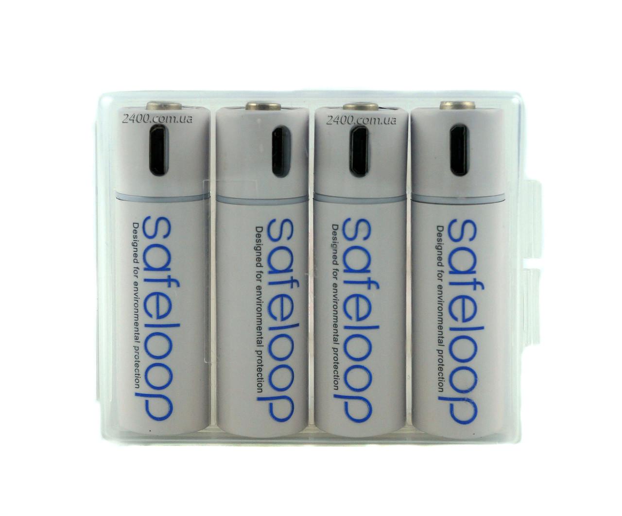Батарейка АА Li-Ion 1250 маг 1.5 micro USB пальчикові батарейки аа