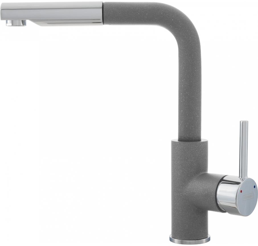 Серыйметалик смеситель Kernau KWT 06A PO Grey Metallic
