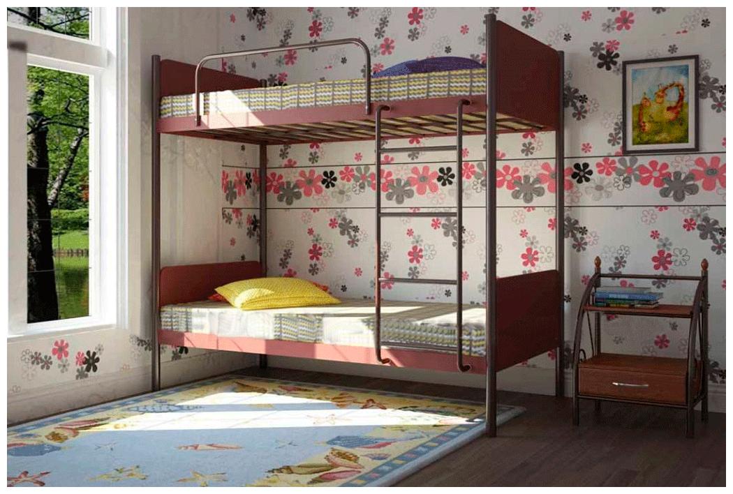 Двухъярусная кровать Металл-Дизайн Арлекино Яблоня