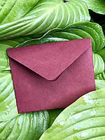 Крафт конверт для визитки 110:90 марсала