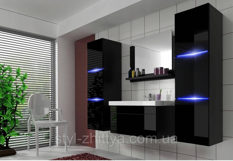Набір меблів для ванної кімнати LUMIA з умивальником 80см