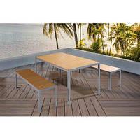 Набор Стол + 2 скамейки в стиле LOFT (NS-970000253)
