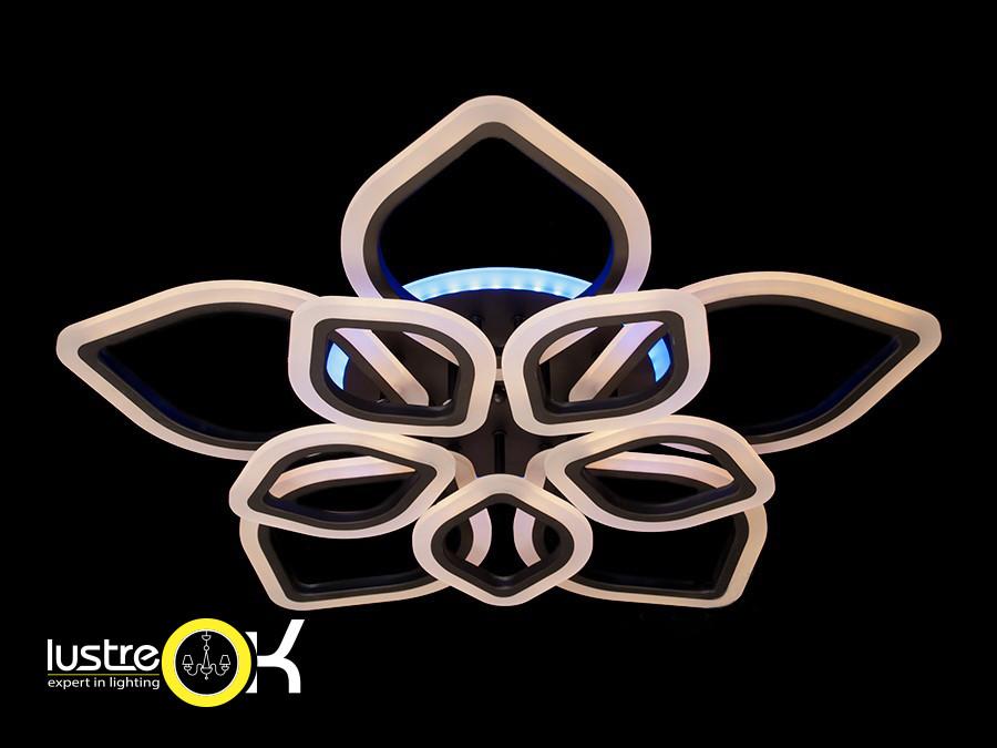 Люстра светодиодная припотолочная Люстра Led A3004/5+5 BK LED dimmer