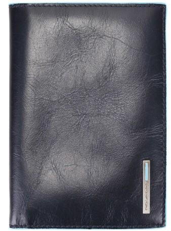 Обложка для паспорта Piquadro AS300B2_BLU2, кожаная