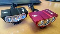 Фара ТРОЙНАЯ сова SOLARSTORM 3х CRE USB + зарядка + аккумлятор