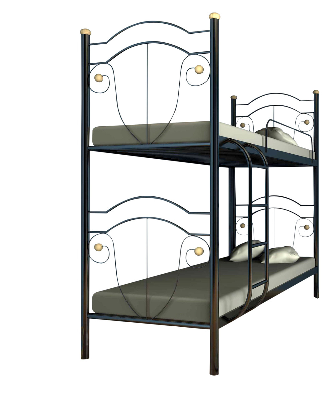 Двухъярусная кровать Металл-Дизайн Диана Черный