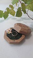 """Шкатулка для свадебных колец.Шкатулка для колец с гравировкой """"Дерево"""". Коробочка для помолвки ."""