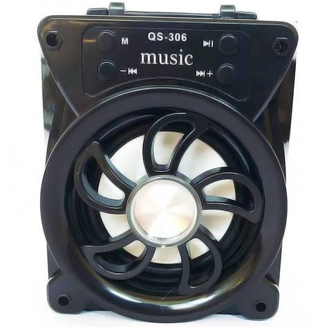 Портативная Bluetooth колонка QS-306, черная, фото 2