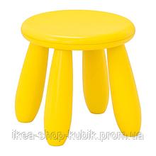 ІКЕА МАММУТ Табурет дитячий, для будинку і вулиці, жовтий