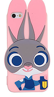 Силиконовый чехол Джуди Хоппс iPhone 6S Plus/6 Plus, розовый