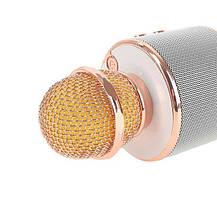 Bluetooth микрофон-караоке WS-858 с динамиком (колонкой), слотом USB и FM тюнером  (Черный), фото 2