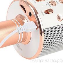 Bluetooth микрофон-караоке WS-858 с динамиком (колонкой), слотом USB и FM тюнером  (Черный), фото 3