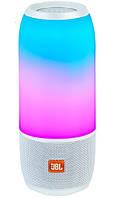 JBL Pulse 3 Колонка портативная беспроводная, светомузыка (Белая)