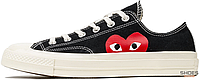 "Женские кеды Converse All Star 70s Low ""Comme Des Garcons"" 150206C Black, Конверс Ол Стар"