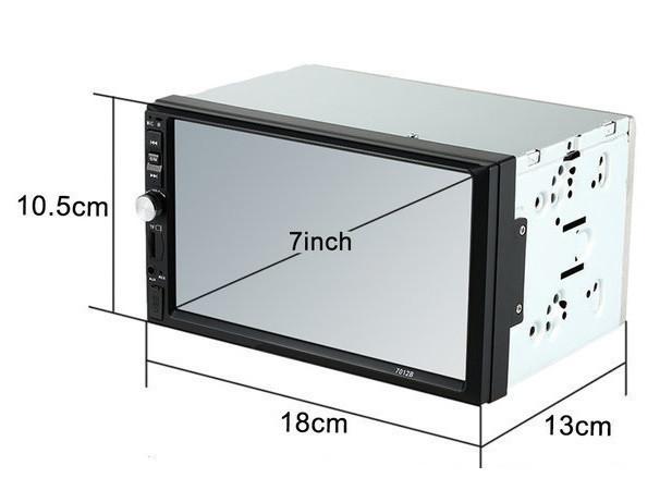 Автомагнитола MP5 2DIN 7012 Little USB  + рамка | Автомобильная магнитола | USB+Bluetoth+Камера