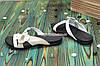 Кожаные женские шлепанцы на низкой подошве с цветочком, фото 2