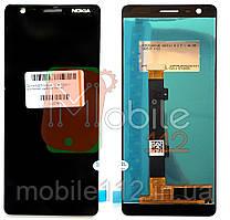 Модульный дисплей Nokia 3.1 (TA-1063 TA-1057) Экран + тачскрин черный оригинал PRC