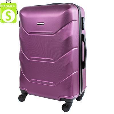 Чемодан Wings Чемодан маленький облегченный на 4-х колесах WINGS (ВИНГС) JAKW147S-dark-purple