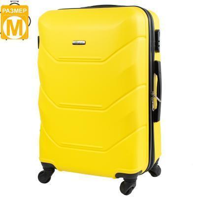 Чемодан FLY Чемодан средний на 4-х колесах  FLY (ФЛАЙ) JAKF147M-yellow, фото 1