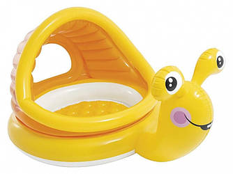 Детский надувной бассейн Улитка с навесом 145х102х14 см Intex 57124