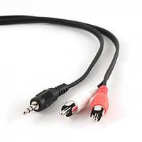 Кабель стерео аудио cablexpert cca-458/0.2 3.5мм / 2хrca-тюльпан папа, 0.2м