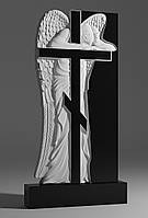 Памятник из гранита Скорбящий ангел №218