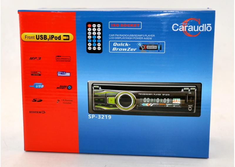 Автомагнитола 1 дин Caraudlo SP-3219 Bluetooth универсальная