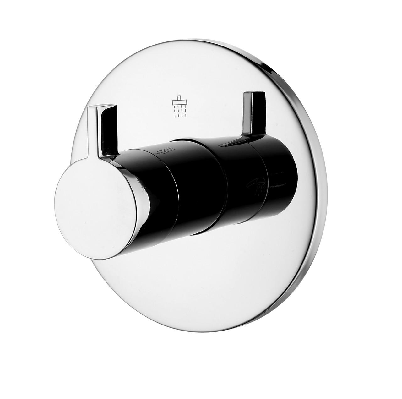 Вентиль-переключатель скрытого монтажа для ванны и душа Imprese Zamek на 3 потребителя