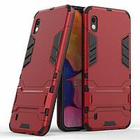 Чехол Iron для Samsung A10 2019 / A105F бронированный бампер Броня Red