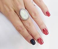 Классическое кольцо с белым опалом Дива, фото 1