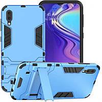 Чехол Iron для Samsung M10 / M105F бронированный бампер Броня Blue