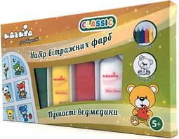 """Набор витражных красок Royaltoys Набор витражных красок Идейка CLASSIC """"Пушистые мишки"""" 98502 SKU_98502"""