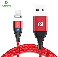 FLOVEME Магнитный кабель usb Lightning быстрая зарядка 3А для iOS Apple iPhone для зарядки Цвет красный, фото 1
