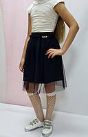 Школьная юбка «Мадонна» с сеткой