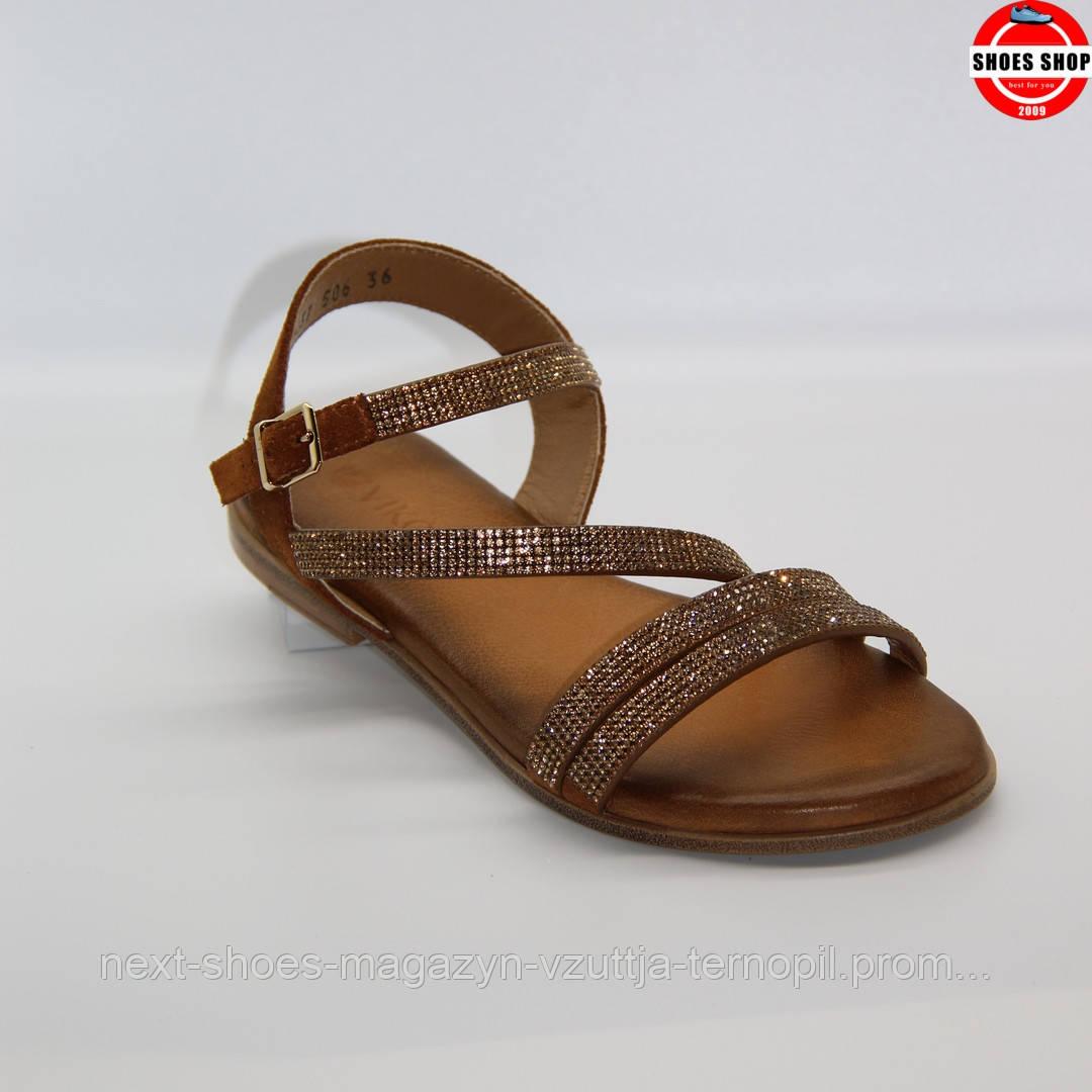 Сандалі жіночі VIKO (Україна) коричневого кольру. Дуже зручні та комфортні. Стиль - Уна Чаплін