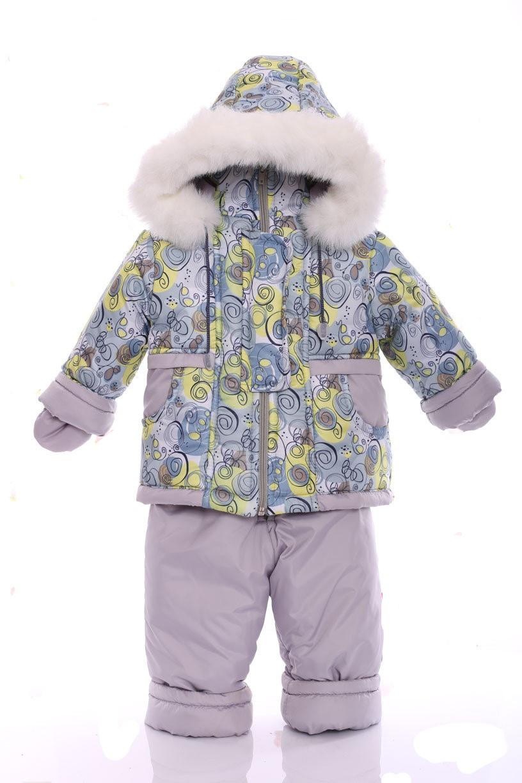 Зимний костюм с меховой подстежкой Ноль Серая галактика