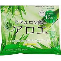 Japan Gals Тканевая маска для лица с экстрактом алоэ и гиалуроновой кислотой, 42 шт. Всего 19 грн за маску!