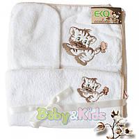 Набор банный ЭКО Тигрик KK-01 белый KK-01.01