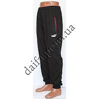 Мужские трикотажные брюки черные НОРМА PM38-1 PUMA пр-во Украина. Оптовая продажа со склада на 7км.