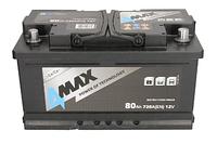 Аккумулятор 80Ah EN720 4Max ECOLINE