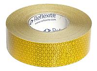 Светоотражающая лента желтая, шириной 50мм Reflexite VC104 +