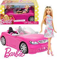 Barbie Гламурный кабриолет Барби с куклой, Машинка для Барби Mattel