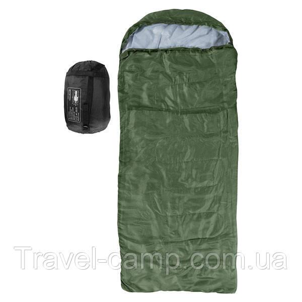 Спальний мішок-ковдра з капюшоном Outdoor 250 гр/м2