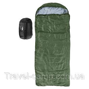 Спальний мішок-ковдра з капюшоном Outdoor 250 гр/м2, фото 2
