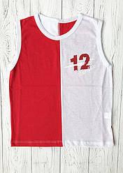 Літня футболка безрукавка для хлопчика Цифри 122, Червоний