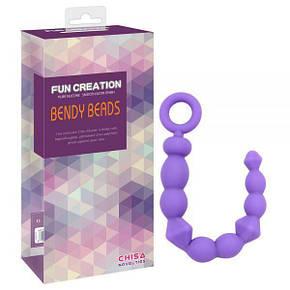 Анальная цепочка, BENDY BEADS-purple, фото 2