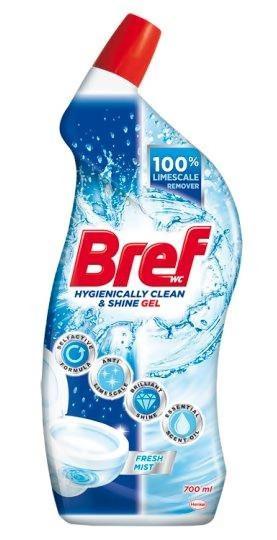 Гель для чищення унітазів Bref Hygienically clean & shine gel Fresh Mist 700 мл.