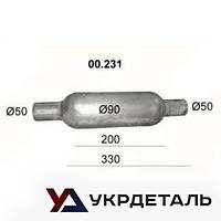 Бочка глушителя универсальная (00.231) | Polmostrow (Польша)