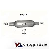 Бочка глушителя универсальная (00.243) | Polmostrow (Польша)